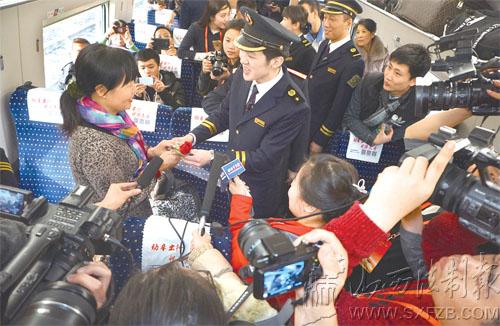 太原至沈阳北,秦皇岛和天津西三趟高速动车组列车